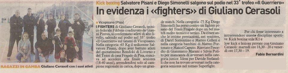 """In evidenza i """"fighters"""" di Giuliano Cerasoli"""