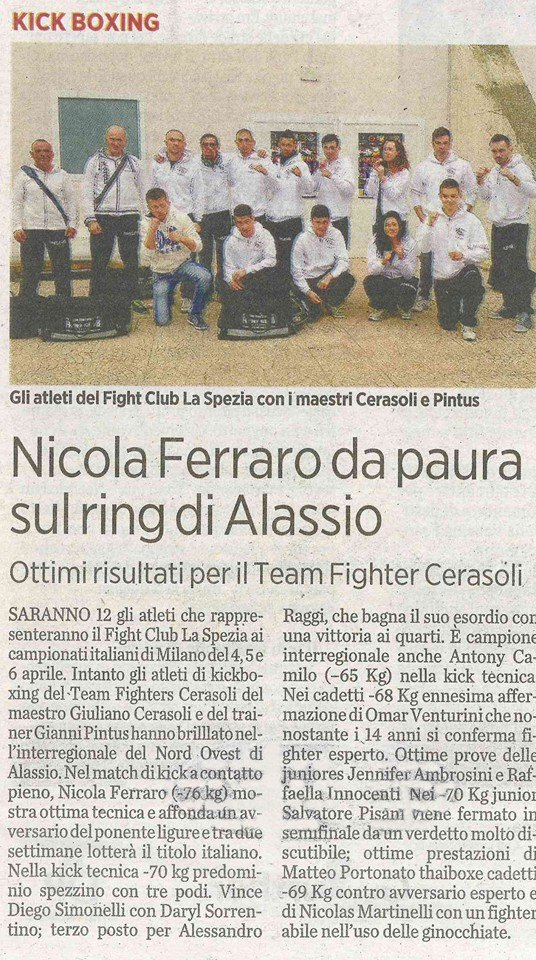 Interregionali Alassio 2014