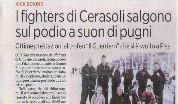 I fighters di Cerasoli salgono sul podio a suon di pugni