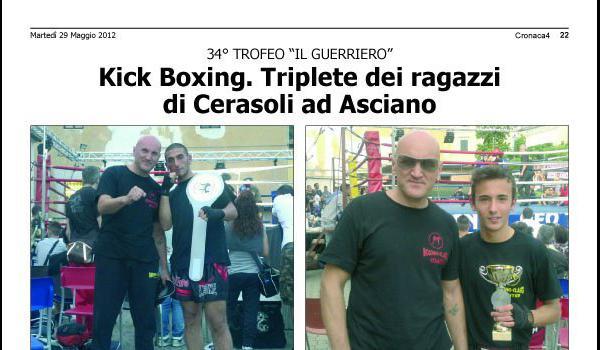 Kick boxing. Triplete dei ragazzi di Cerasoli ad Asciano