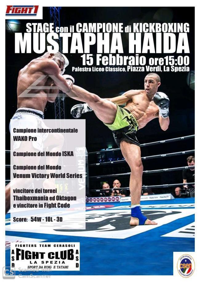 Stage con Mustapha Haida
